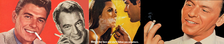Ronald Reagan, Cary Grant, Frank Sinatra i još neki modeli promoviraju pušenje